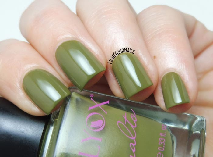 Smalto verde oliva Lilyox 54 olive green nail polish #nails #unghie #lilyox #lightyournails