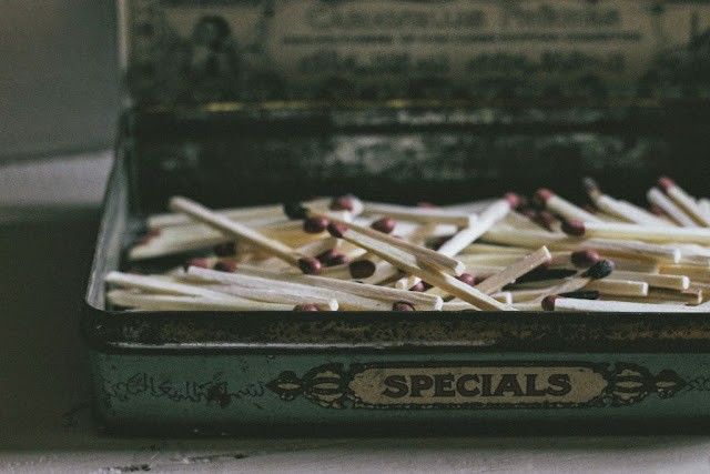 Vintage tin Match box
