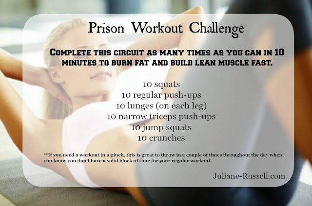 Anywhere, anytime workout. Short workout challenge.