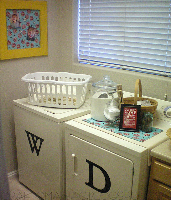 Before And After Merging Two Rooms Has Created A Super: {Happy Laundry Room Do-oVeR Decor}