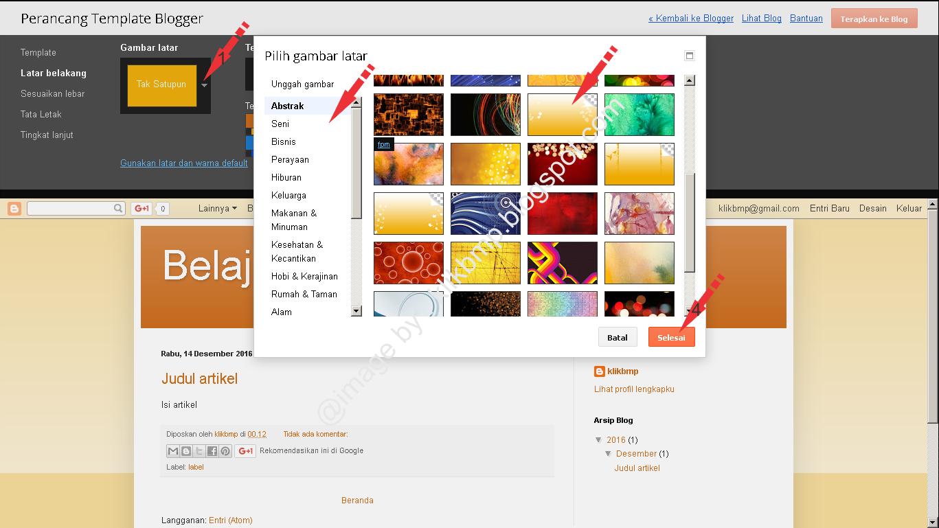 Cara Posting Artikel, Setting Template dan Tata Letak Blog terbaru ...