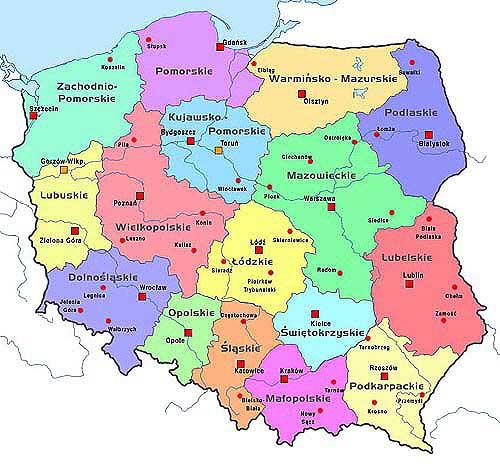 Polônia | Mapas Geográficos da Polônia