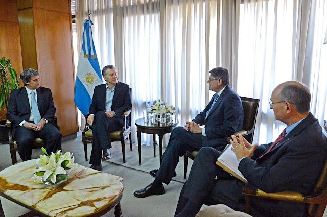 Mauricio Macri y Jack Lew