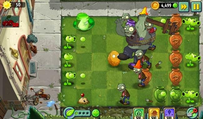 Jogo para Android Plants vs Zombies 1 e 2