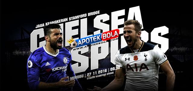 Prediksi Pertandingan Chelsea vs Tottenham Hotspur 27 November 2016