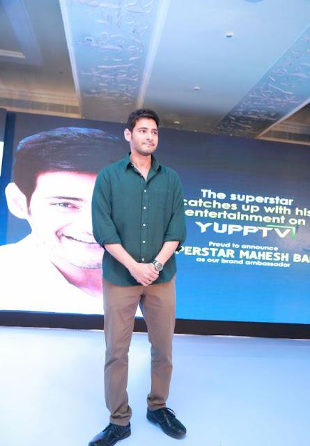 Mahesh babu stills at Yupptv brand ambassador event