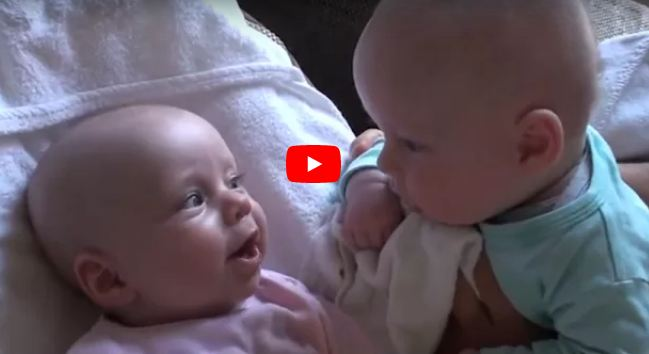 Adorable Video Shows Minor Infant Twins Speaking What Sounds Like Their Own one of a kind Dialect