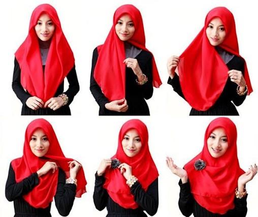 26+ Cara Memakai Jilbab Segi Empat Terbaru 2018: Simpel