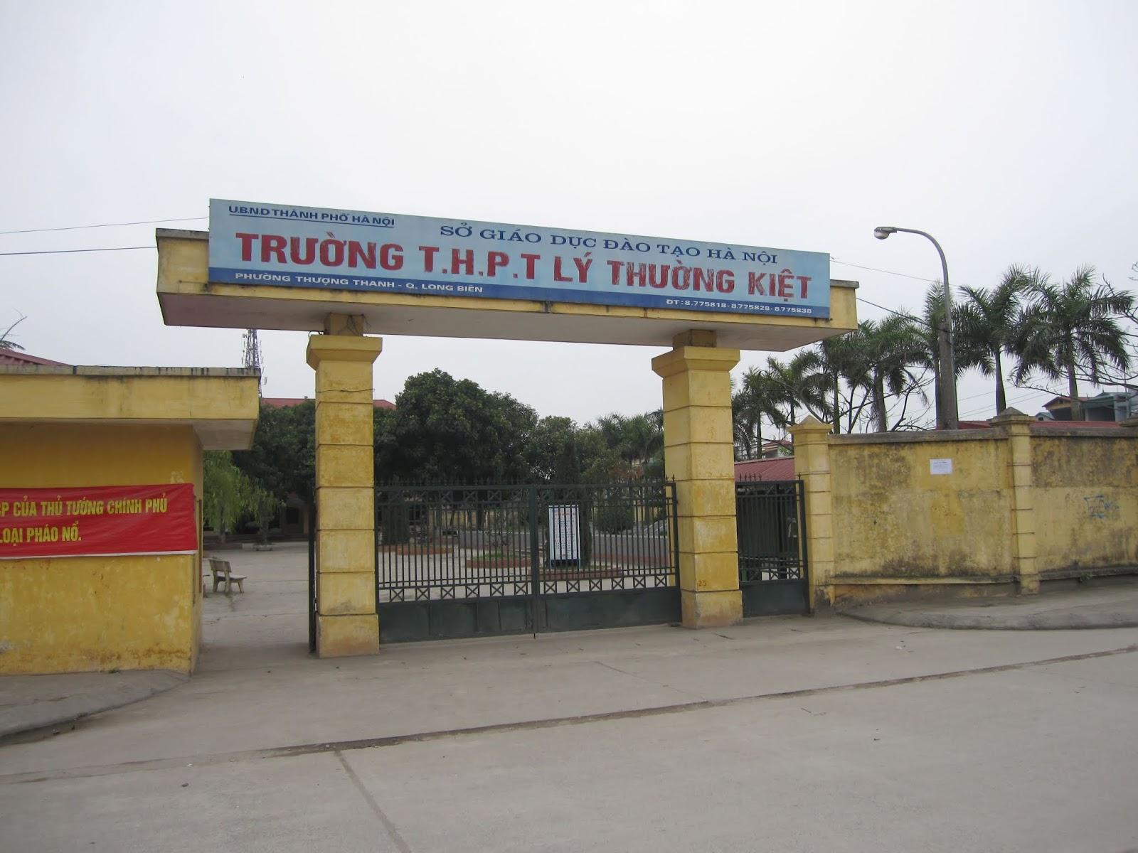 Trường THPT Lý Thường Kiệt.