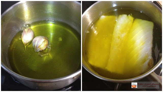 Lazy blog ensalada templada de bacalao con pimientos del for Cocinar a 60 grados