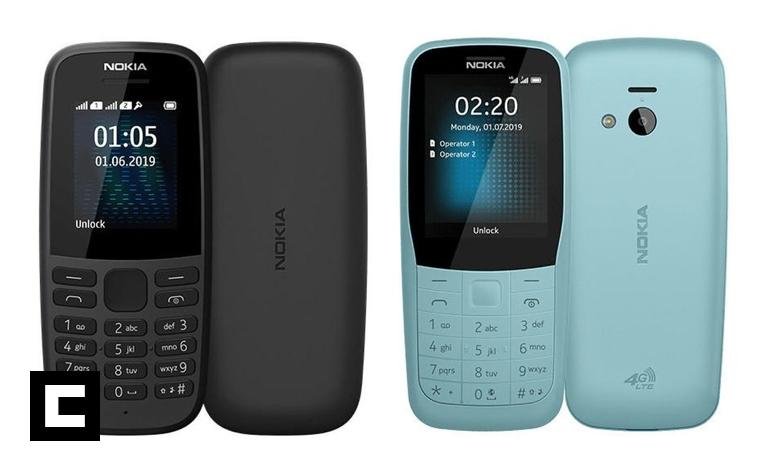 Nokia 220 4G y Nokia 105