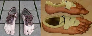 Shoes from Nike that look like hairy feet.