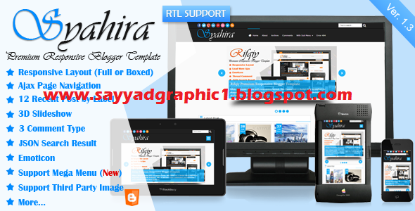 Syahira  Responsive Blogger Template Free Download