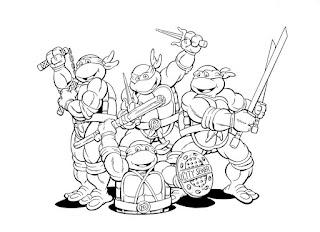 Ζωγραφιές με τα χελωνονιντζάκια