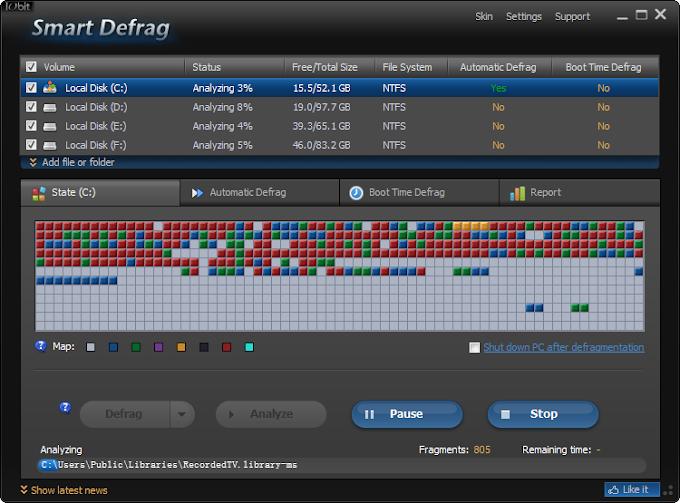 Smart Defrag 5.8.5 - H καλύτερη δωρεάν εφαρμογή ανασυγκρότησης δίσκων