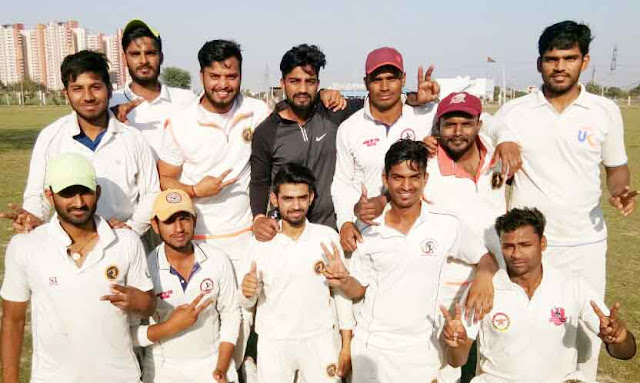 Ravinder Fagna Cricket Academy team winner, Rahul Yadav, man of the match