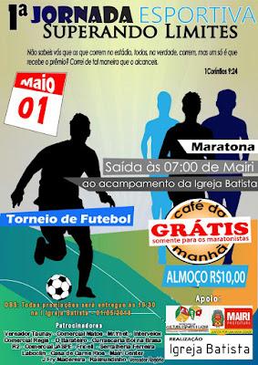 1ª Jornada Esportiva da Igreja Batista, em Mairi-BA