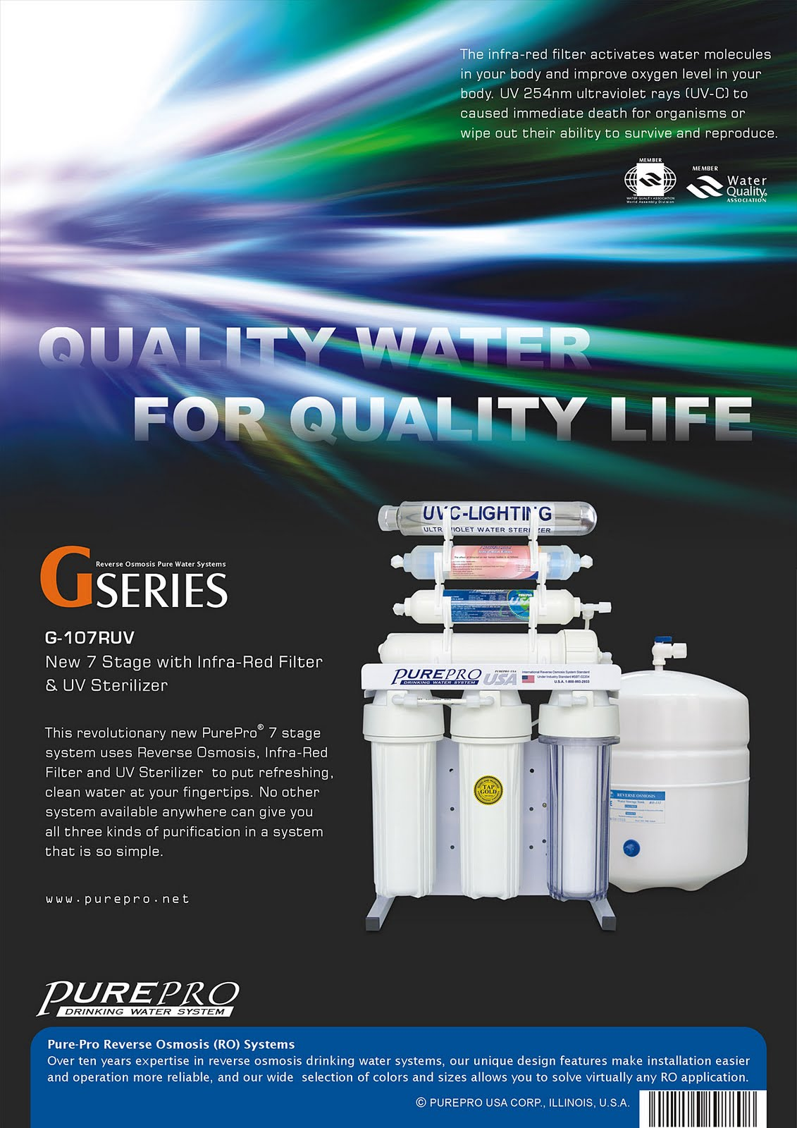 PurePro® G107-RUV Reverse Osmosis Water Filtration System