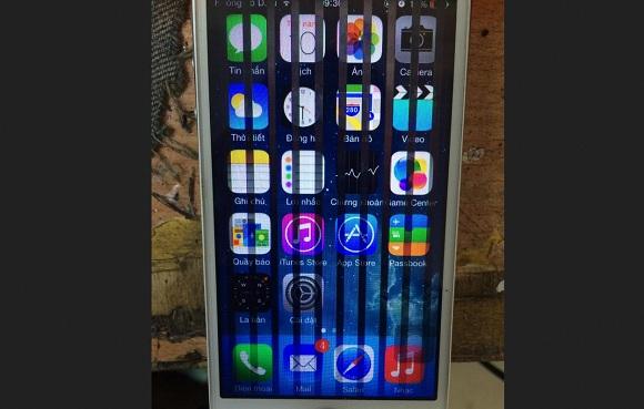 Màn hình iPhone 6 bị sọc dọc ngang liệt cảm ứng nhanh chóng