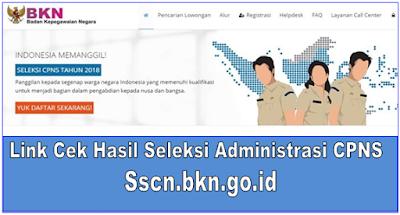 Link Cek Hasil Seleksi Administrasi CPNS Sscn.bkn.go.id