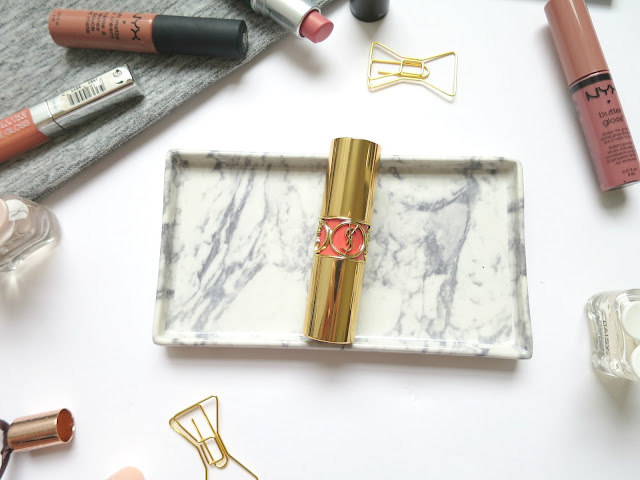 Spring Lipsticks - YSL Rouge Volupte in Peach Passion