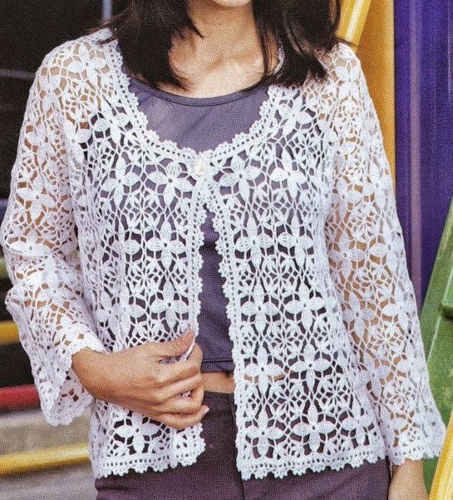 Bonita chaqueta de dama | Crochet y Dos agujas - Patrones de tejido