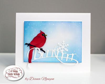 Quietfire Design, Brrrr and Snowflake, ECD Garden Birds, Cardinal, Diana Nguyen