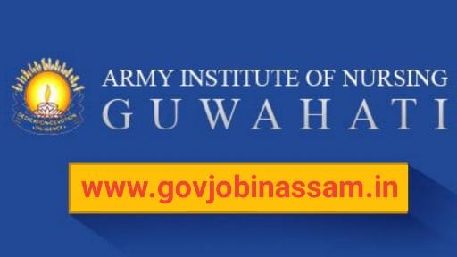 Army Institute of Nursing, Guwahati Recruitment 2018,govjobinassam