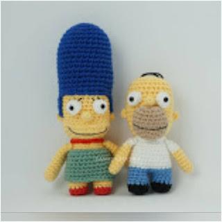 patron amigurumi Homero y Marge de Los Simpsons canal crochet
