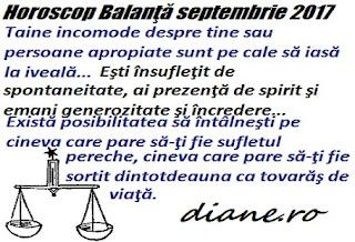 Horoscop septembrie 2017 Balanţă
