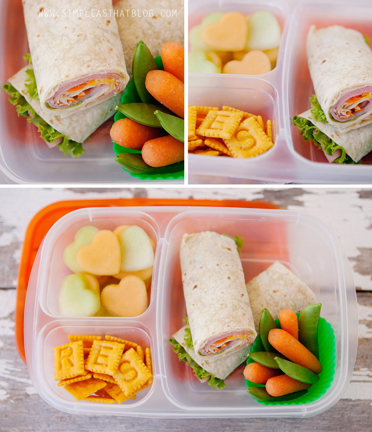 Easy rollup lunch sandwiches