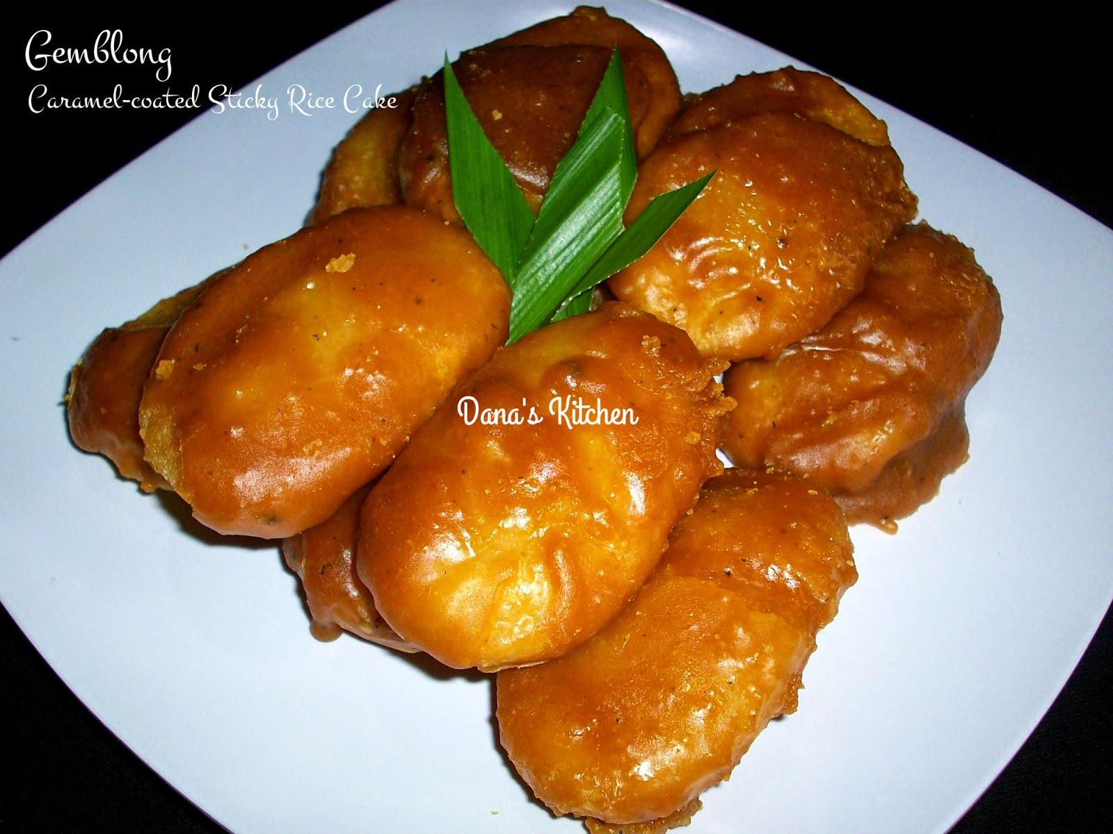 Danas Kitchen Gemblong Indonesian Caramelcoated Sticky