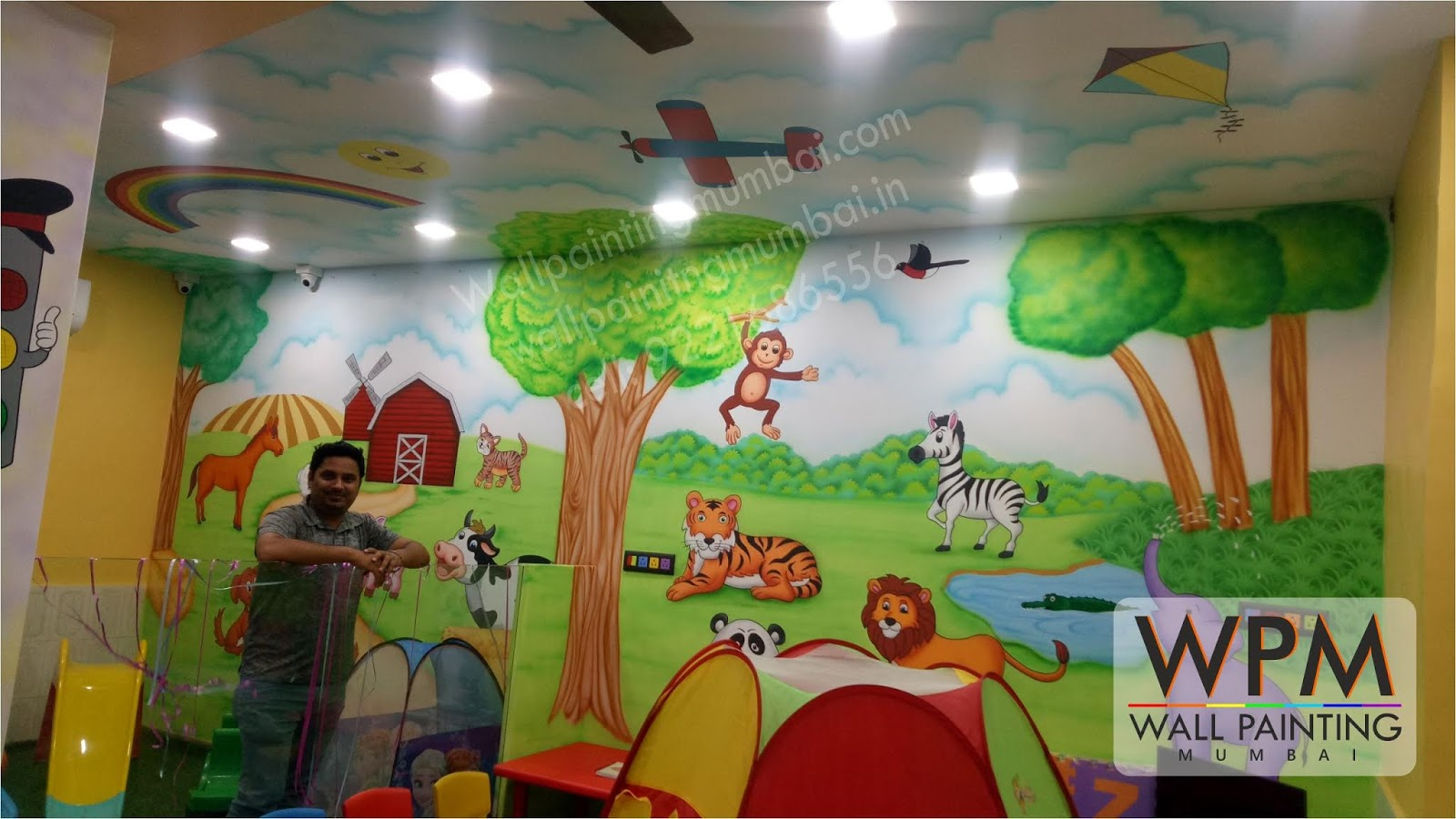 Play School Room Story Theme Wall Painting Mural
