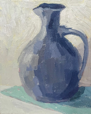 Daily Painting #13 'Blue Jug' 10×8″ Oil on Board