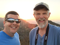 Jeff and Dan atop Baby Bell, Griffith Park, Los Angeles, June 22, 2016