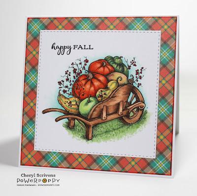 Power Poppy, Marcella Hawley, Fall Haul, Remixed Digital Image, CherylQuilts, Designed by Cheryl Scrivens, October 2016