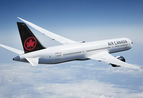 www.Tinuku.com Winkreative designed Air Canada livery in new red maple leaf logo and black dominance in fin and bottom