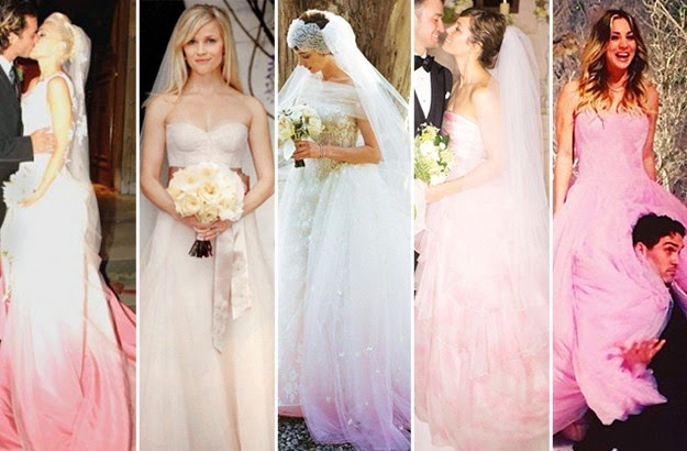 0da8c45a4572f wedding fashion: Pretty in Pink – Top 8 Celebrity Pink Wedding Dresses
