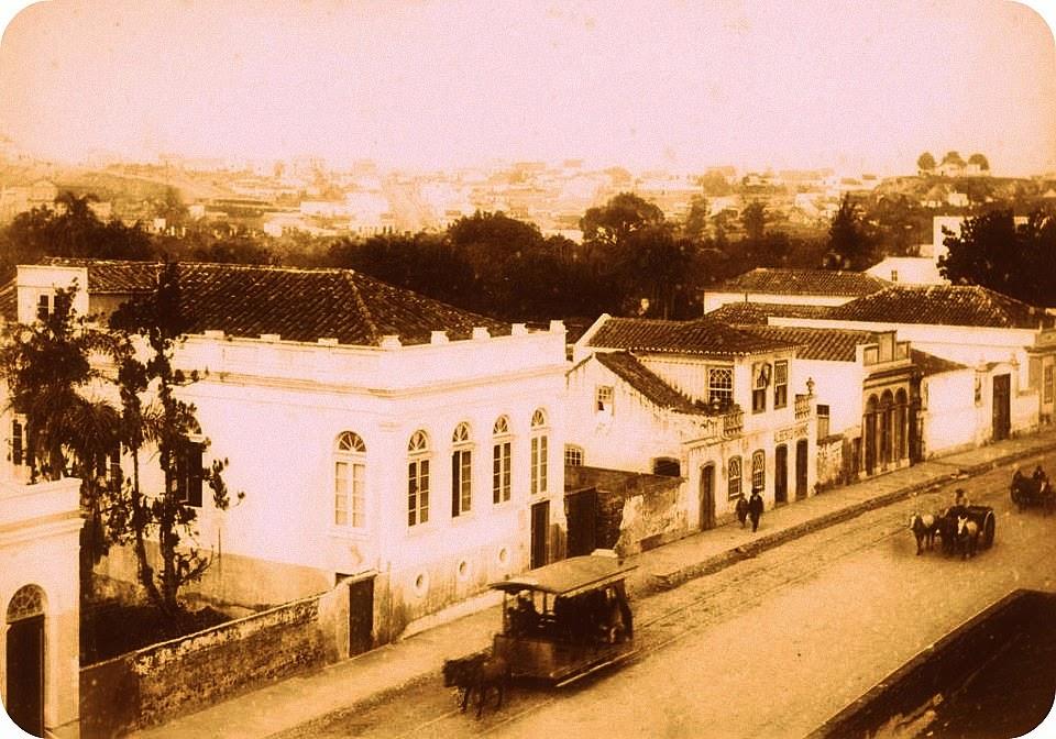 Porto Alegre: Avenida Independência e bairro Moinhos de Vento (ao fundo), 1890
