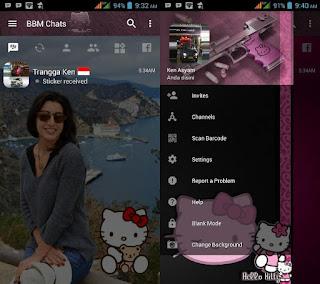 BBM Mod Hello Kitty Apk Versi 3.2.0.6 Clone Terbaru