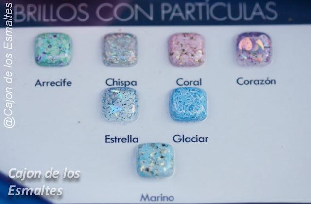 Carta de colores con glitter o brillos  - Masglo