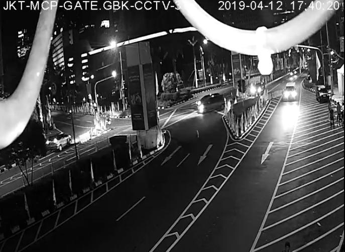 Tangkapan CCTV Waktu Subuh di Hari Kampanye Jokowi di GBK