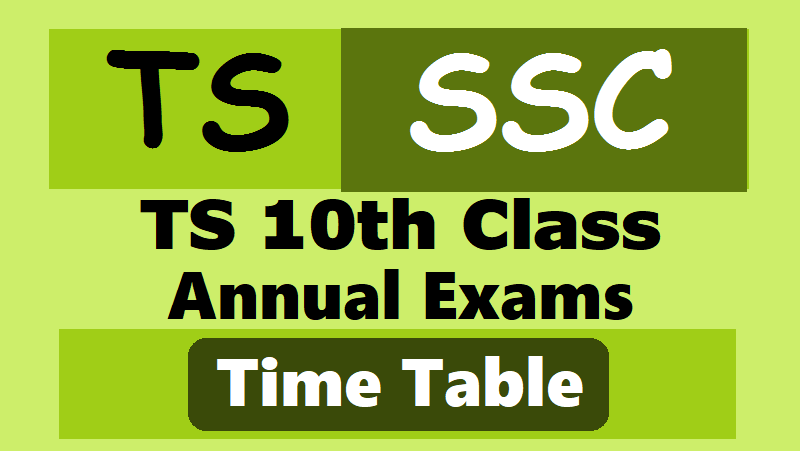 ts ssc 2019 time tabletelangana ssc 2019 exams time table10th class ssc