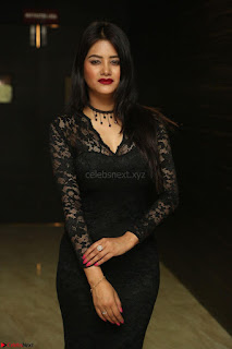 Actress Monica in spicy transparent Black Top at O Pilla Nee Valla Movie Audio Launch Feb 2017 119.JPG
