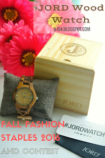 JORD Wood Watch and Fall Fashion Staples 2016 {Contest}
