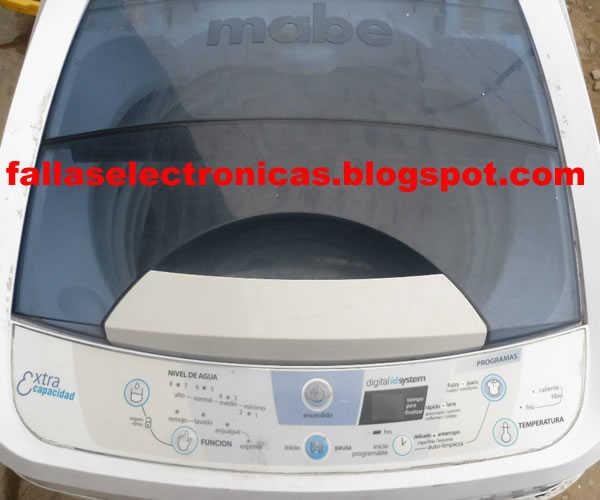 Reparaci n de tarjeta lavadora digital mabe solucionado for Como reparar una lavadora