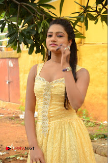 Actress Bannisha Pictures in Yellow Dress at Lovers Park Movie Opening  0022.JPG