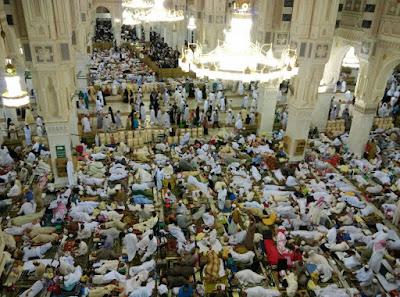 Suasana i'tikaf 10 malam terakhir Bulan Ramadhan