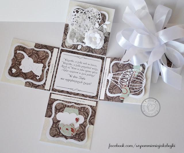 Eleganckie pudełeczko z okazji ślubu