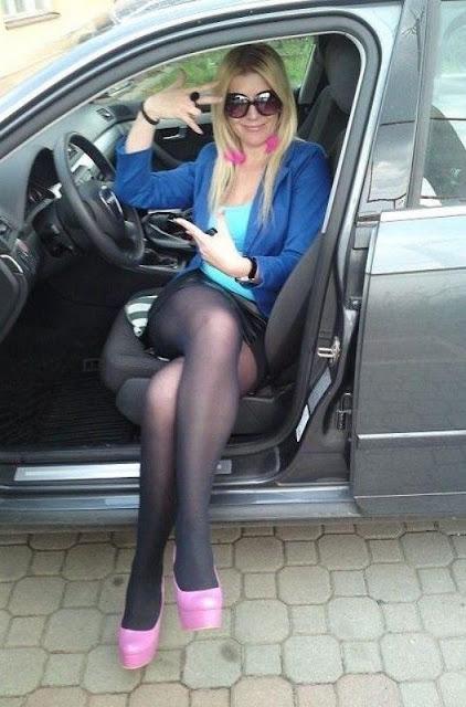 Pantyhose car trip